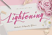 Lightening Script - Font Duo by dirtylinetype on Envato Elements