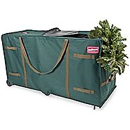 TreeKeeper TK-10773 Greenskeeper 10'-15' Extra Large Christmas Tree Storage Bag with Wheels
