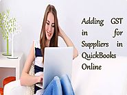 Adding GST in for Suppliers in Quickbooks Online