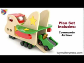 Wood Toy Plans - Giant Airplane for Toddlers