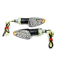 2pcs Mini Stalk Arrow Motorcycle LED Turn Signals Indicators Blinkers Lights Fits Metric Cruisers, Sport Bikes, Chopp...