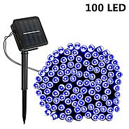 Solar String Lights,SOLMORE 55.8ft /17M 100 LED Solar Outdoor Fairy String Lights Starry Fairy Lights,Ambiance Lighti...