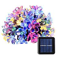 Qedertek Solar Christmas String Lights, 21ft 50 LED Fairy Blossom Flower Garden Lights for Outdoor, Home, Lawn, Weddi...