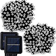 Solar String Lights, Lemontec 200 Led Holiday String Lighting Outdoor Solar Patio Lights Fit Chrismas Garden Wedding ...