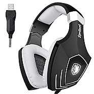 SADES A60S/OMG PC Wired USB Stereo Gaming Headset Headband Over Ear Headphones with Microphone Noise Isolating Volume...