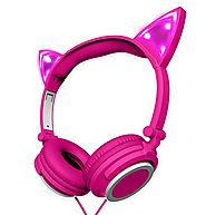 Polaroid PHP240PK Cat Headphones Light up With Pink LED, Cat Headphones for Girls