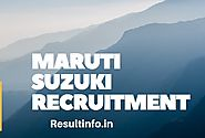 Maruti Suzuki Recruitment 2017-18 | Apply For Current Job Openings