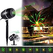 Christmas Laser Light, Star Galaxy Moving Shower Waterproof Landscape Holiday Projector Lighting Indoor Decoration Fo...