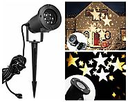 Lightess Christmas Projector Light Moving Star Holiday Decorations Outdoor Indoor Decor LED Landscape Projection Spot...
