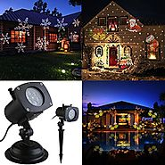LEORX Light Projector 12 Pattern for New Year, Christmas, Halloween, Birthday Party and Valentine's Day Spotlight