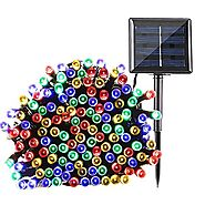 Qedertek Solar String Lights 72ft 200 LED Fairy Christmas Lights, 8 Modes Ambiance Lighting for Outdoor, Patio, Lawn,...