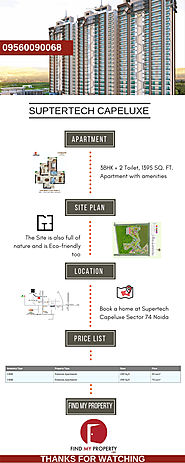 Buying 3Bhk Premium Apartments at Supertech Capeluxe Noida