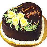 Buy Heart Shaped Cake Online India | FlowersCakesOnline