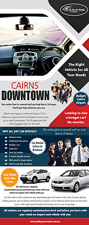 Cairns Downtown | Call -740-313-348 | alldaycarrentals.com.au
