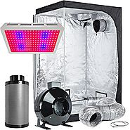 "TopoLite Grow Tent Room Complete Kit Hydroponic Growing System LED600W Grow Light+6""Carbon Filter Combo+48""x48""x80"" D..."