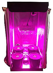 Hydroponic Grow Room - Complete Grow Tent - 300w LED Grow Light with IR