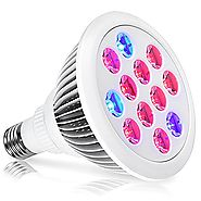 LED Grow Light,Oak Leaf 24W Plant Bulb High Efficient LED Grow Lights Growing and Flowering Lighting for Indoor Garde...