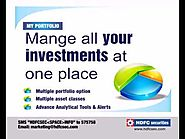 Manage all your investment in one account at HDFC Securities