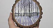 Wood Slice Paintings - Homemade Holiday Gifts