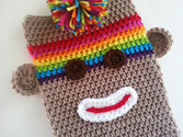 SALE! Rainbow and Tan iPad iPad Air Sock Monkey Case Tablet Cover 15% off