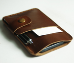 iPhone 5 Handmade brown Leather Case iPhone sleeve with card holder iphone 5 wallet---ph11