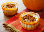 Pumpkin Swirl Cheesecake Yogurt Cupcakes