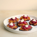 Sweet Potato Latkes with Cranberry Sauce