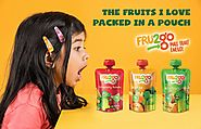 Eat Healthy, Stay healthy with FRU2go fruit snack.
