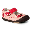 Momo Baby First Walker Ladybugs Mary Jane Leather Shoes For Toddlers