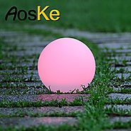 AosKe 9.5-Inch Floating Outdoor LED Party Light Glow Light Orb Ball Garden Lights Waterproof Color Changing Decor Poo...