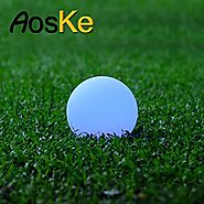 AosKe 7.9-Inch(diameter) LED Color Changing Floating Ball Waterproof Mood Light Garden Decoration Flashing Ball LED l...
