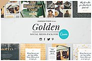 GOLDEN | Canva Social Media Pack