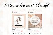 Instagram templates- rose gold