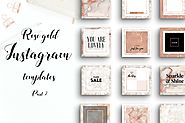 Lovely rose gold instagram pack