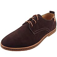 Dadawen Men's Brown Leather Oxford Shoe - 12 D(M) US