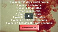 How many days are in a year? Howmanydays.net