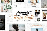 Animated Rose Gold Instagram Templates by sparklestock on Envato Elements