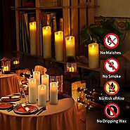 Top 10 Best LED Flameless Flickering Candles Reviews 2017-2018 on Flipboard