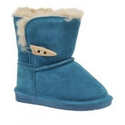 BEARPAW ABIGAIL TODDLER Boot, Teal, 6 M US M US Little Kid