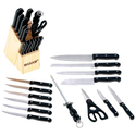 15PC CUTLERY SET IN WOOD BLOCK