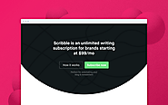 Scribble – An unlimited blog-writing subscription for brands 📝