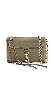 Rebecca Minkoff Women's Mini MAC Cross Body Bag, Olive, One Size