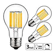 GEZEE 10W Edison Style Vintage LED Filament Light Bulb, 100W Incandescent Replacement,Warm White 2700K,1000LM, E26 Me...