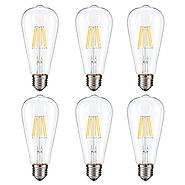 Dimmable Edison LED Bulb, Kohree 6W Vintage LED Filament Light Bulb, 2700K Soft White, 60W Incandescent Equivalent, E...