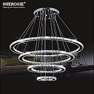 MEEROSEE Crystal Chandeliers Modern LED Ceiling Lights Fixtures Pendant Lighting Dining Room Chandelier Contemporary ...
