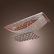 Lightinthebox Luxuriant Crystal LED Flush Mount Light with 8 Lights, Modern/Contemporary Ceiling Light Fixture Chande...