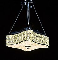 New Legend Modern LED Crystal Chandelier Pendant Hanging or Flush Mount Ceiling Lighting Fixture, 3 light colors in o...