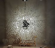 GDNS Chandeliers Firework LED Light Stainless Steel Crystal Pendant Lighting Ceiling Light Fixtures Chandeliers Light...