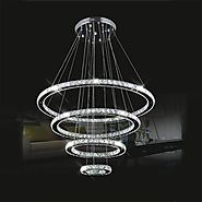 LightInTheBox LED Crystal Chandelier Lihting Transparent Crystal Round 4 Rings 20CM Plus 40CM Plus 60CM Plus 80CM Lam...