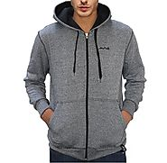 AWG Men's Black Melange Grindle Hoodie Sweatshirt with Zip | Upto 70% Off